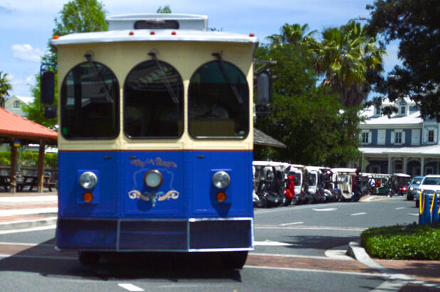Trolley in The Villages Florida - Great for retired people
