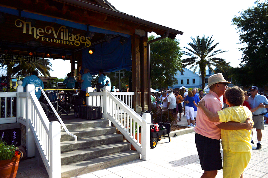 dancing in lake sumter landing the village fl best palce to live