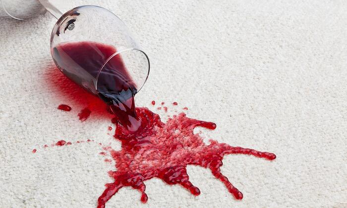Red-wine-glass-dirty-carpet-easy-fixes-before-selling-home