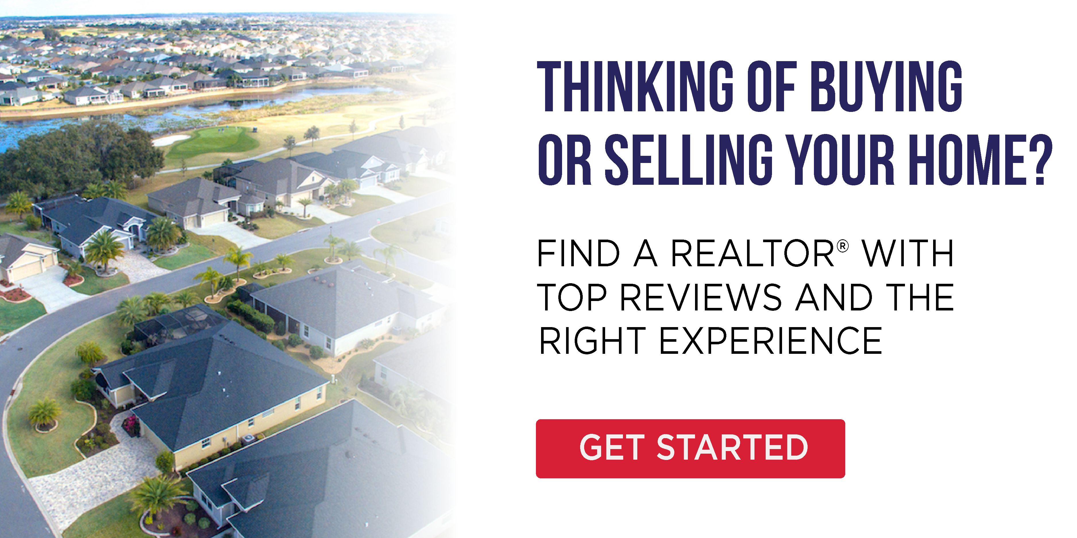 aerial neighrborhood cta graphic selling your home find a realtor