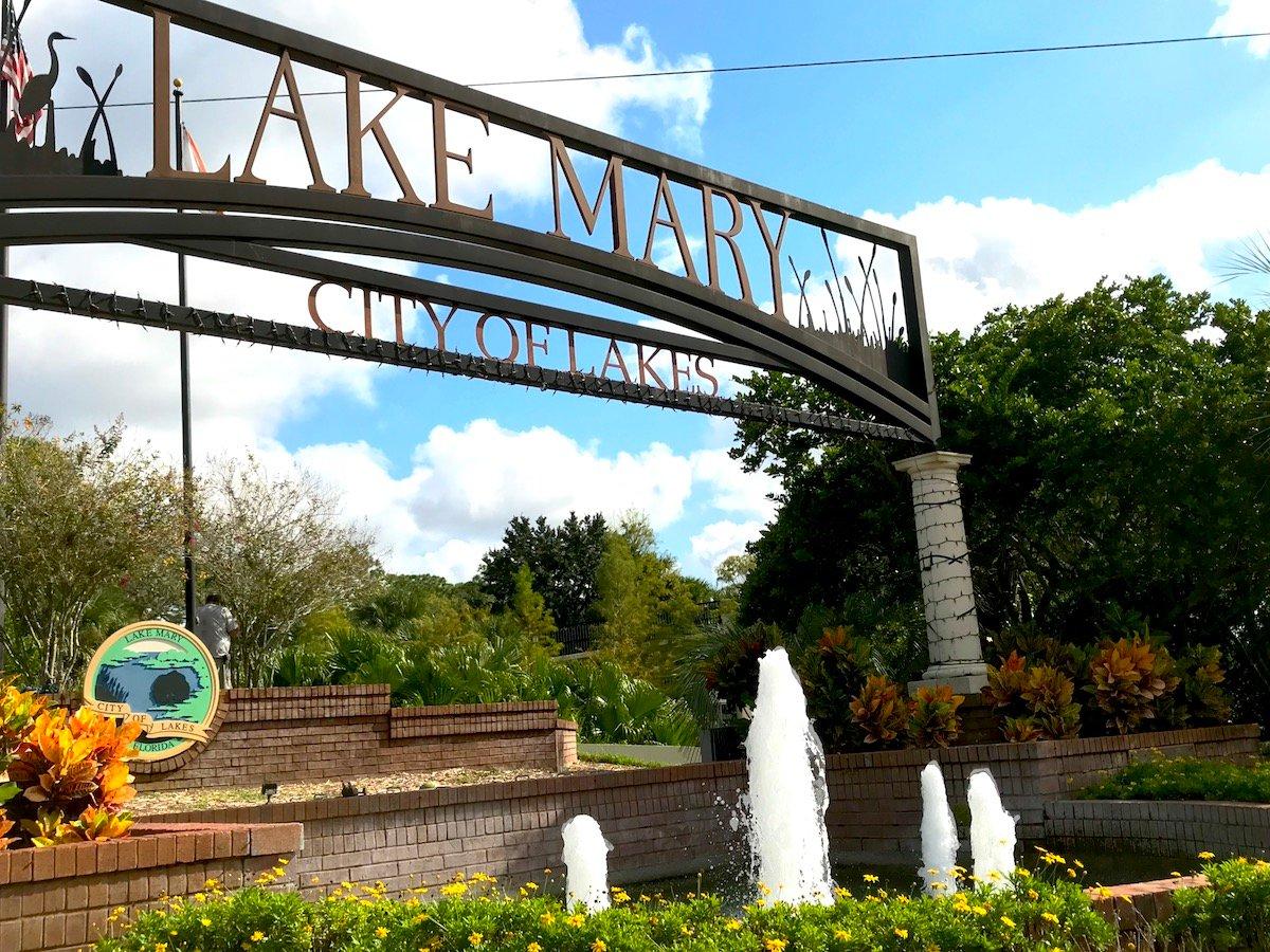lake mary florida sign