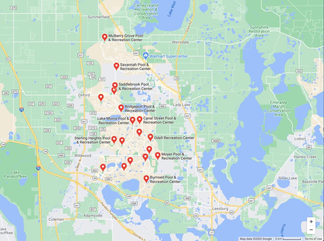 the villages, florida recreation centers